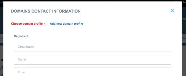 create a domain name